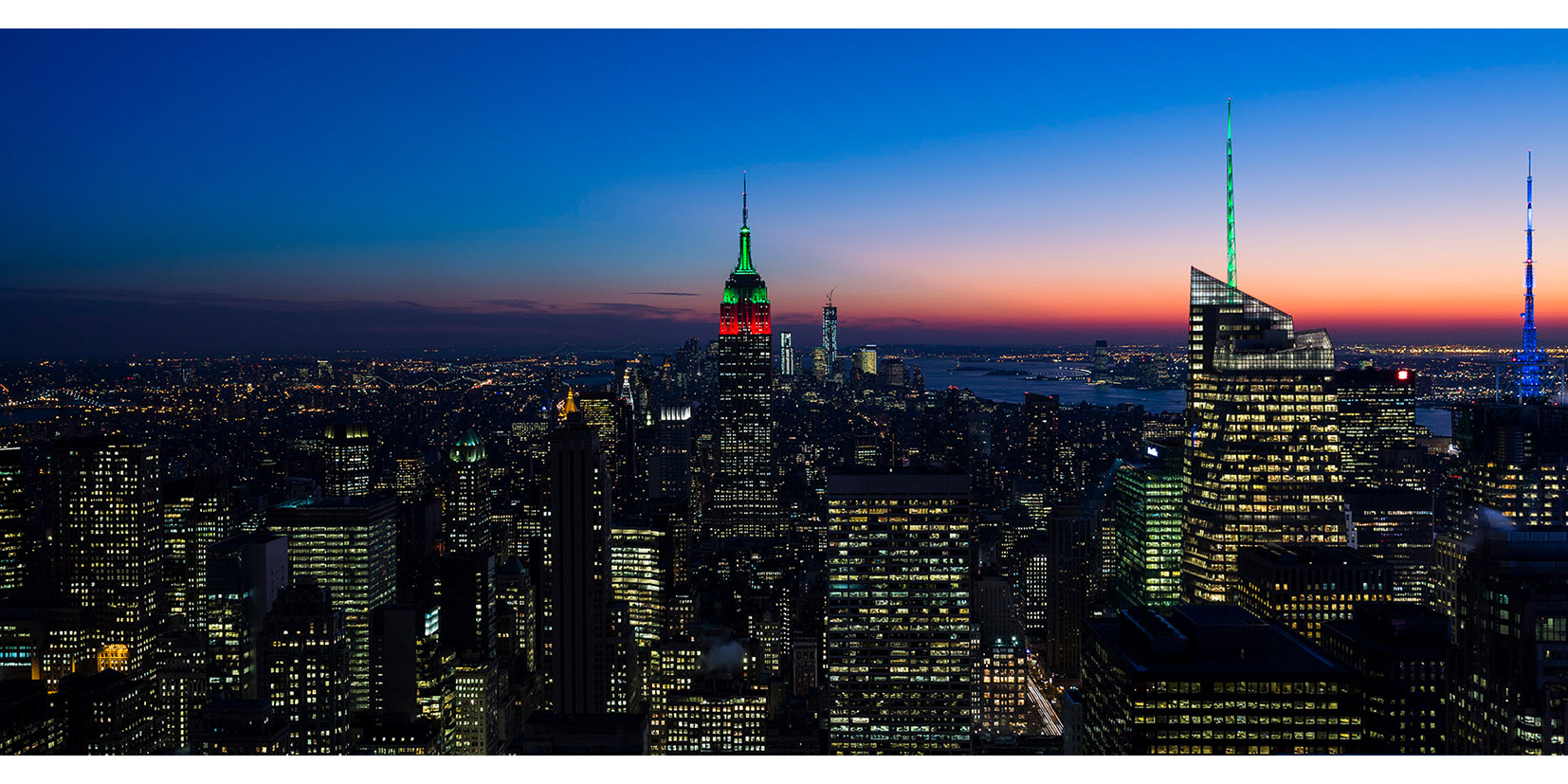 Night view of Manhattan - New York - 2012