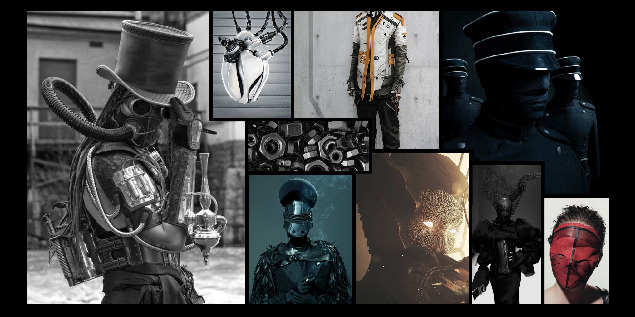 AI's. Inspired by the human appearance and our fashion with a clear touch of machinery and dark attributes.