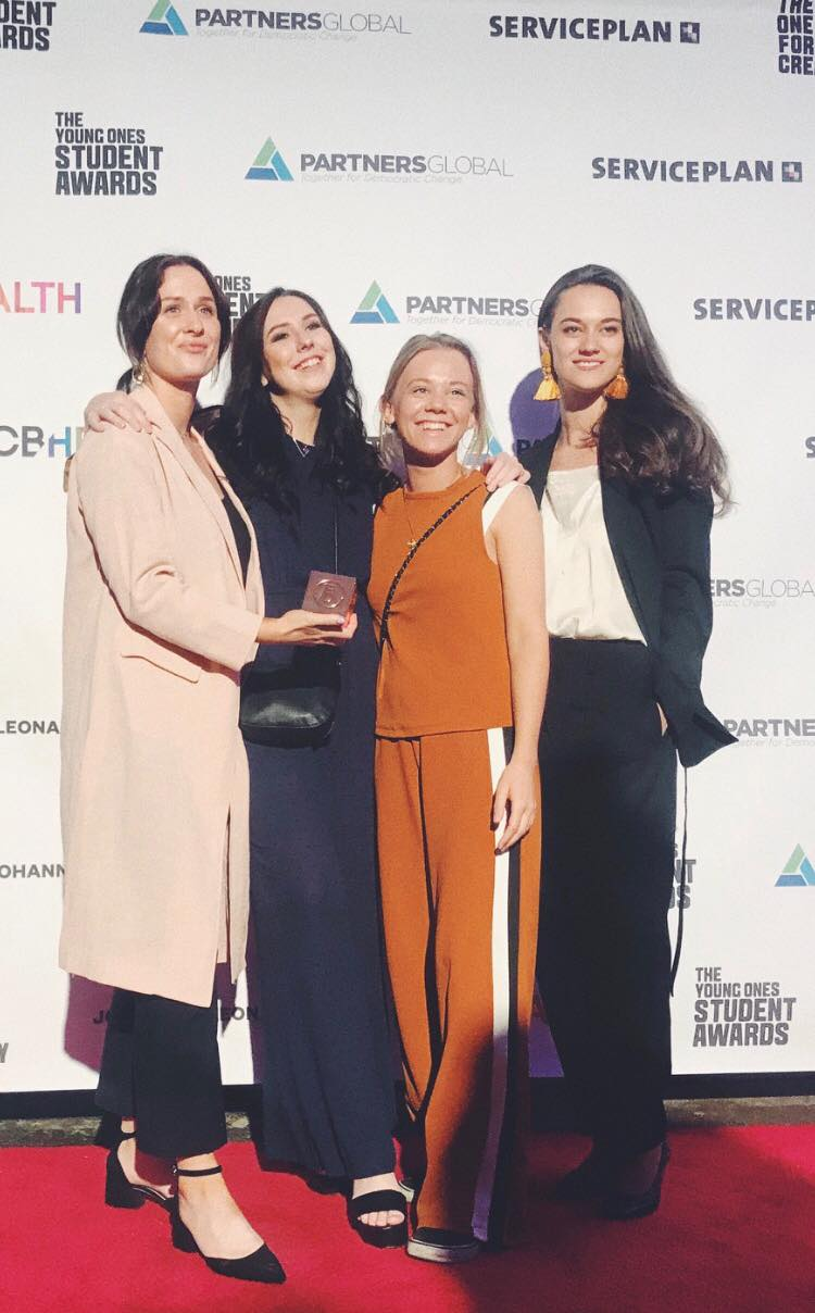 From left: Emelie Svensson, Mikaela Sandström, Disa Hein and myself at The Young Ones Student Awards at One Show in New York, May 2018.
