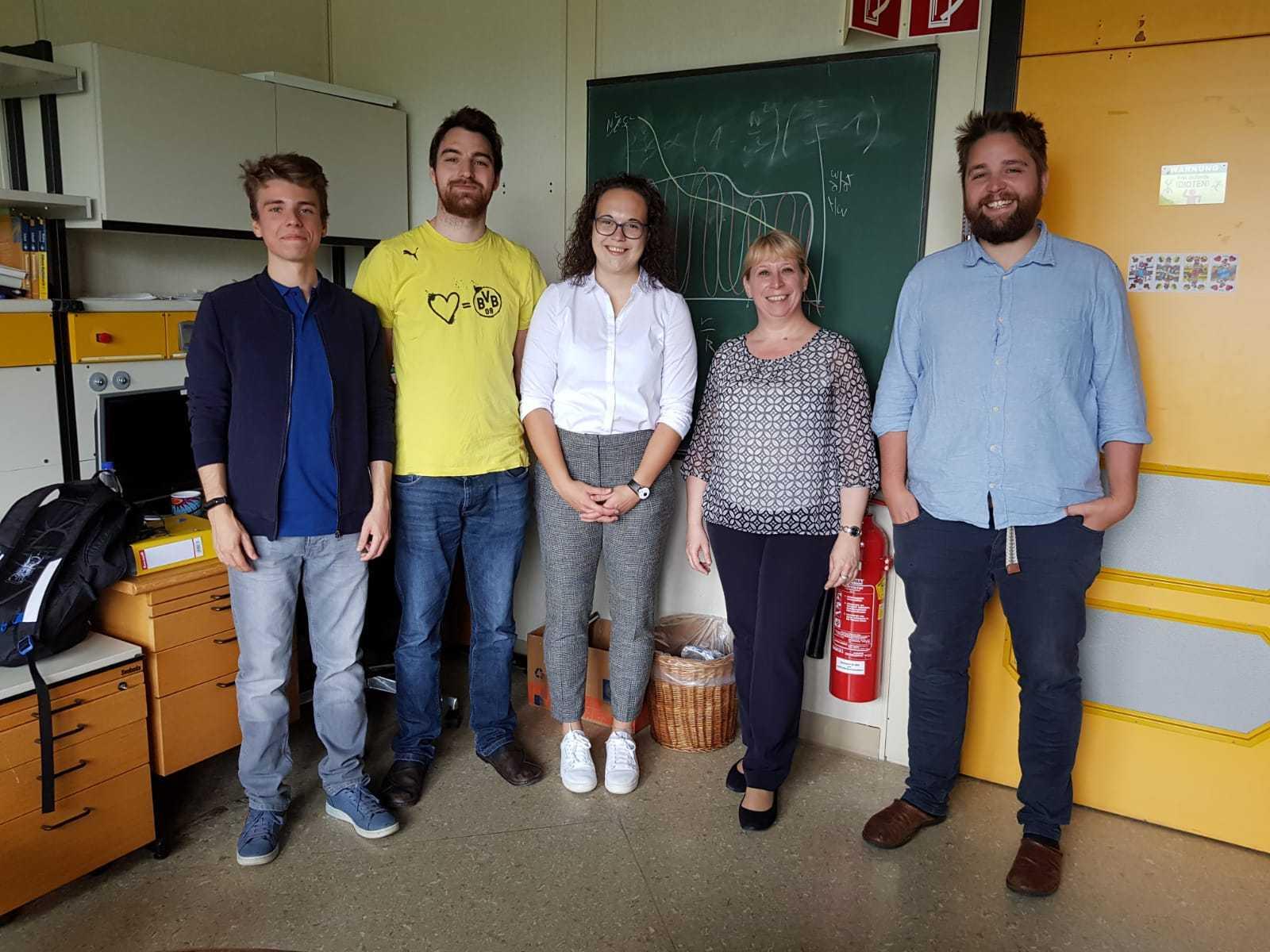 Sebastian Zieba, Thomas Steindl, Laura Ketzer, Konstanze Zwintz, Marco Müllner (from left to right) - September 2019