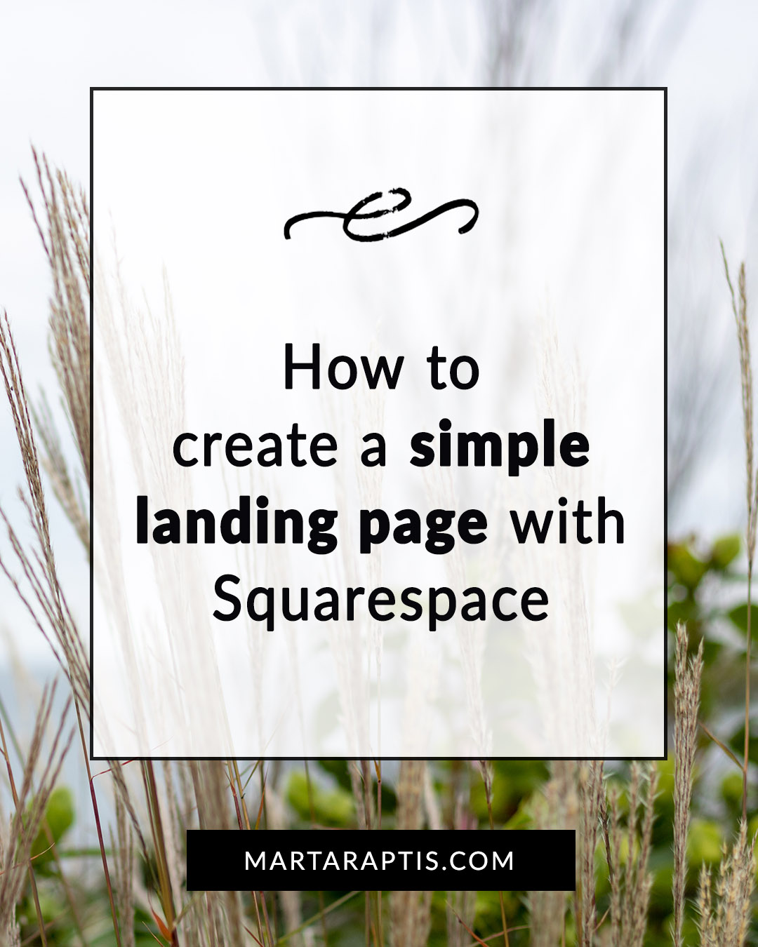 how to create a landing page in squarespace