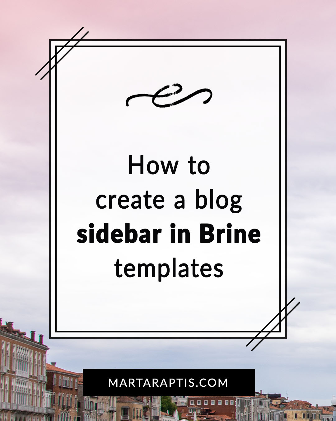 how to create a sidebar in brine template squarespace