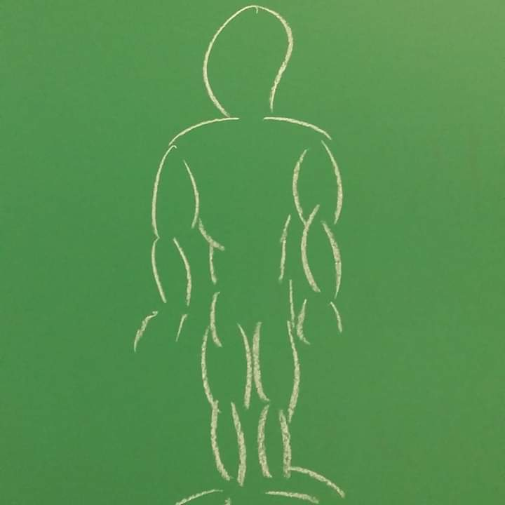 Hombre.  Chalk