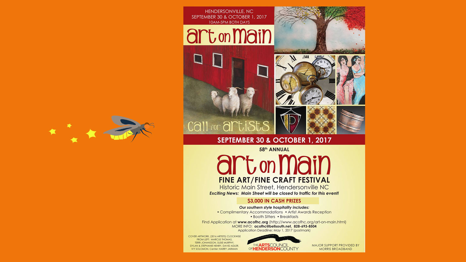 Art on Main. Hendersonville, NC. Sep 30 to Oct 1, 2017.