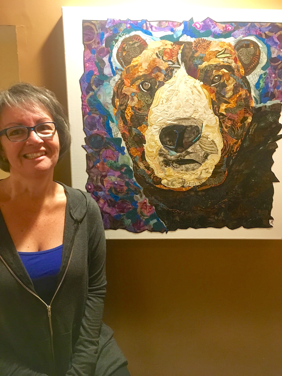 Joyce Henneberry, Artist. Wall Art. Thread Painting. Quilts. From Brevard, NC.