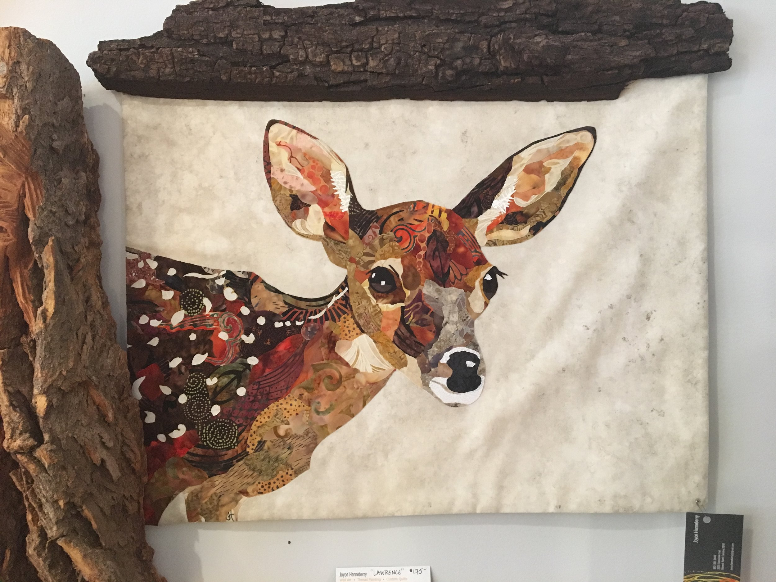 """ Freckles"" Fibre Collage by Joyce Henneberry"