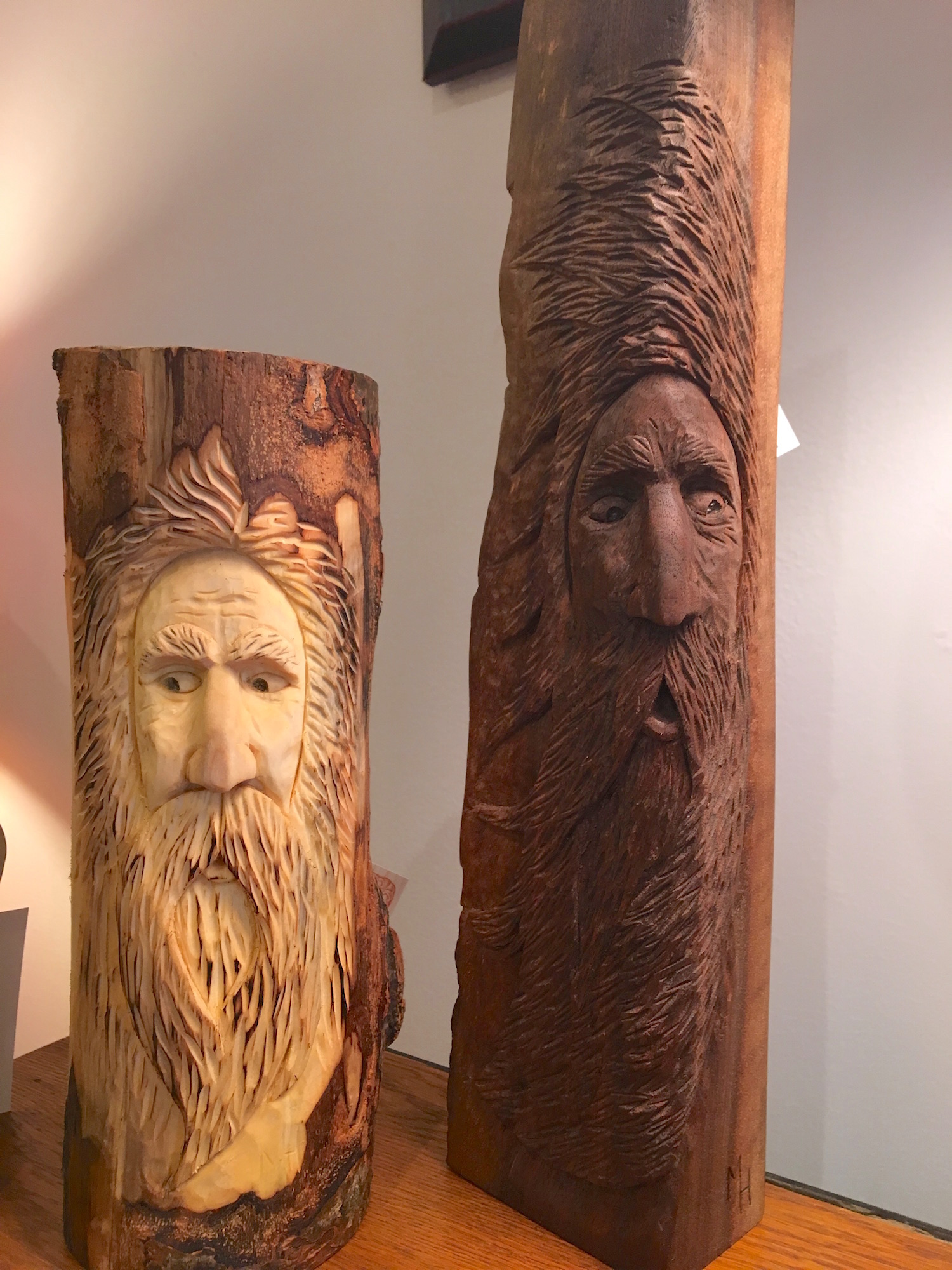 Mountain Spirit Carvings by Mark Henneberry