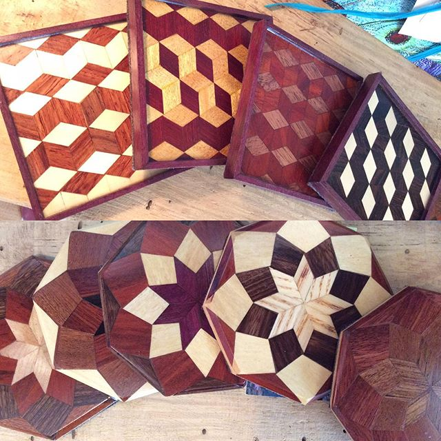 SAVE the date!  Saturday October 5, 12-4 David will be at Firefly demonstrating his parquetry during #americancraftweek along with many other artists!  We love these #parquetry #coasters #coasterset #handcrafted #quiltpatterns #wnc #blueridgemountains #acw
