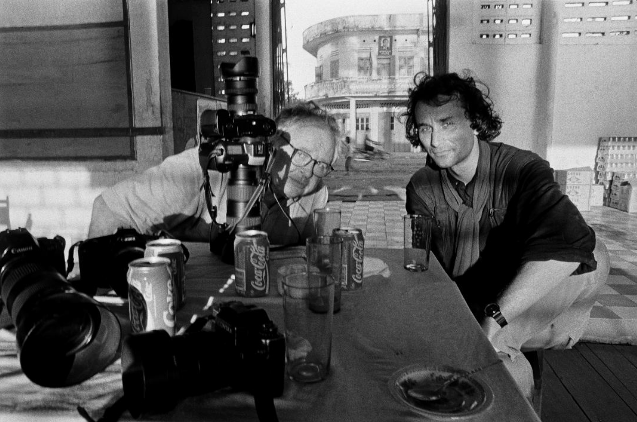Daniel Schwartz with PJG. Cambodia 1994