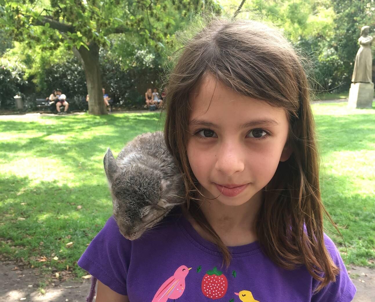 Matt's daughter loves nature and animals.