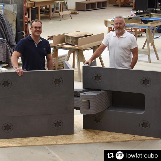 Great to meet Derek during his visit this week. We are humbled by his kind words, and can't wait to see the finished article  #Repost @lowfatroubo (@get_repost) ・・・ Spent the best part of yesterday in the company of Paul Wilcox and Shane Armstrong of @bladesjoinery for an upcoming article in #fandcmagazine about their @diabhinge Two of the hardest working, infectiously upbeat guys in the business. The hinges aren't actually this size but I'm sure if you asked, they'd find a way to make it happen. #madeinengland #cabinetmaking #furnituremaking #joinery #cabinetmaker #furnituremaker #bespoke