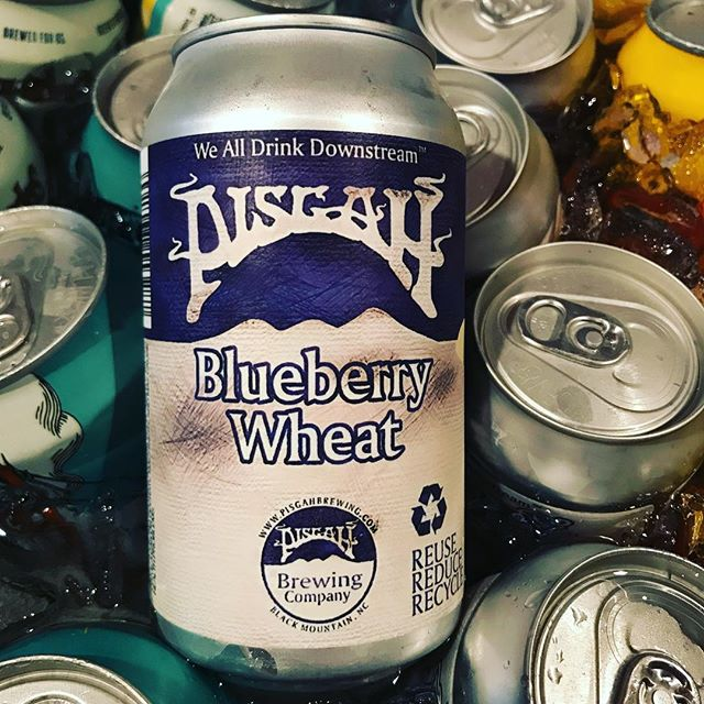 Yeah, it's dope! @pisgahbrewing Blueberry Wheat cans on special today for $3.50. #icecoldbeerhere #neighborhoodbar #goorganic #localbrew #avldrinks