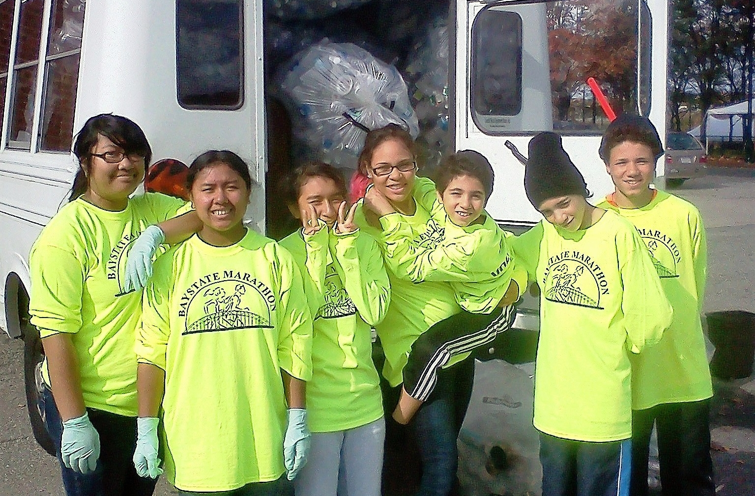 Green Team recycling crew cuts down on waste at the Baystate Marathon