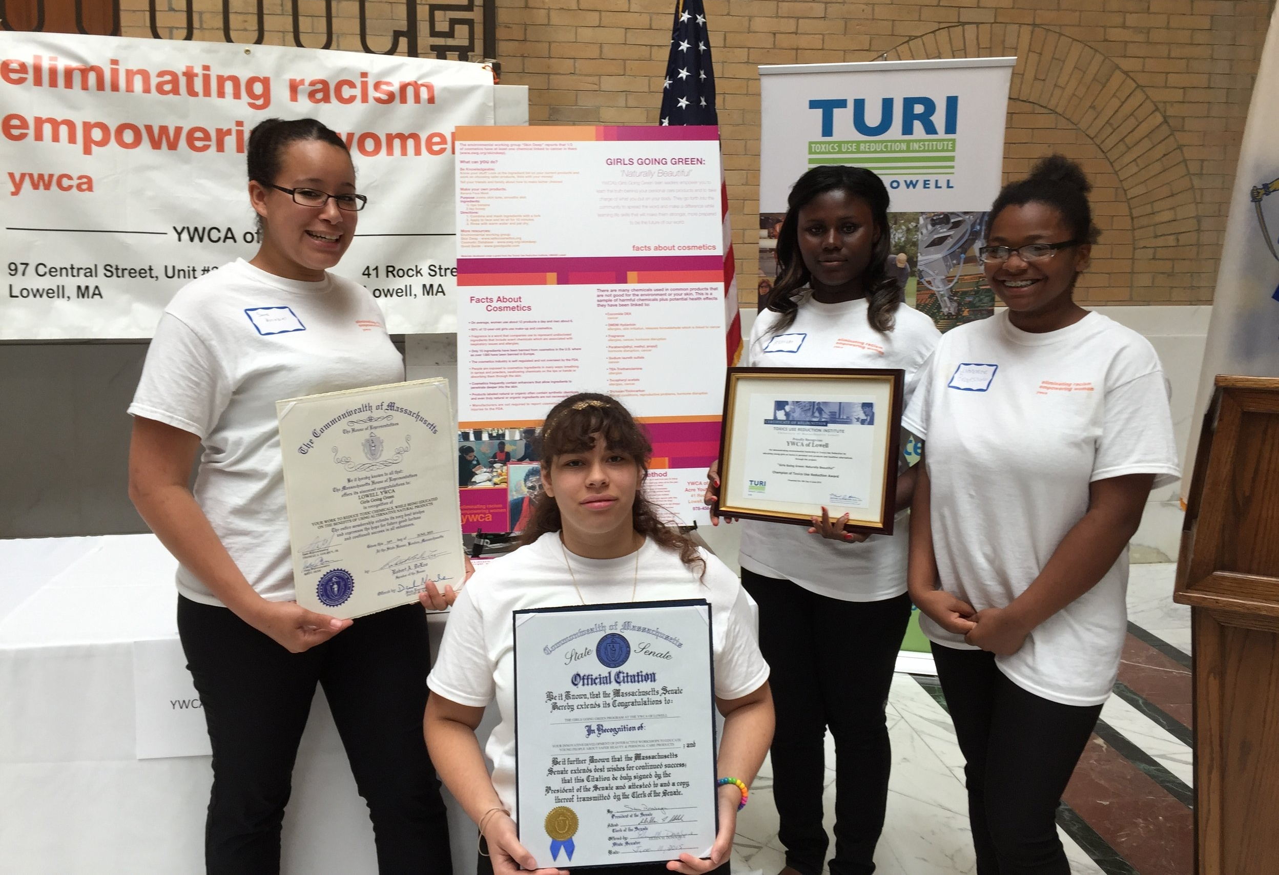 Girls Go Green recognized by the Massachusetts State Senate for their work on toxin reduction