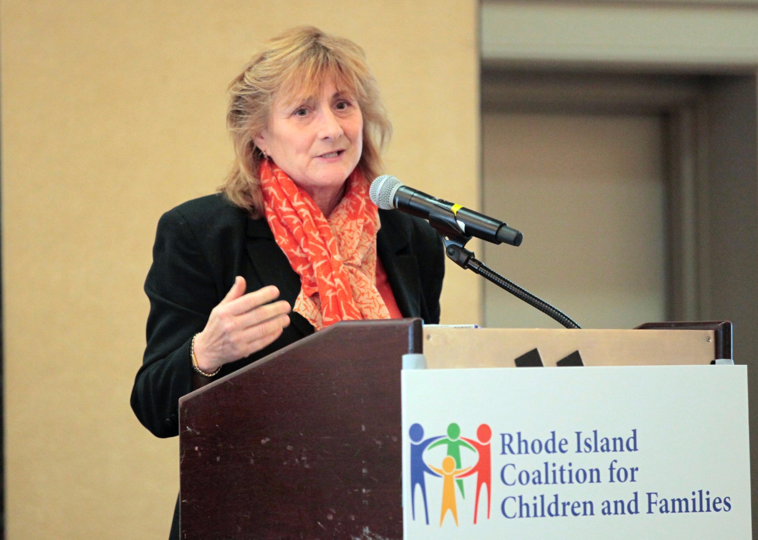 Representative Deborah L. Ruggiero  receiving Legislative Champion award for passage of Voluntary Extension of Care.
