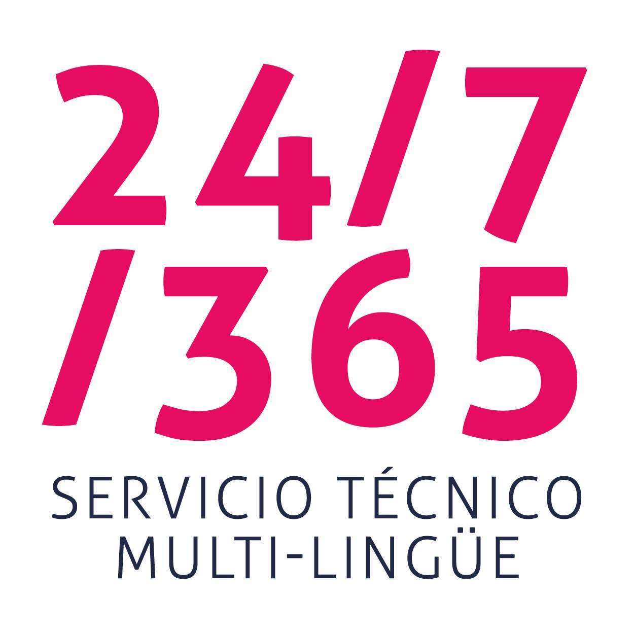 Servicio técnico multi-lingüe 24/7/365