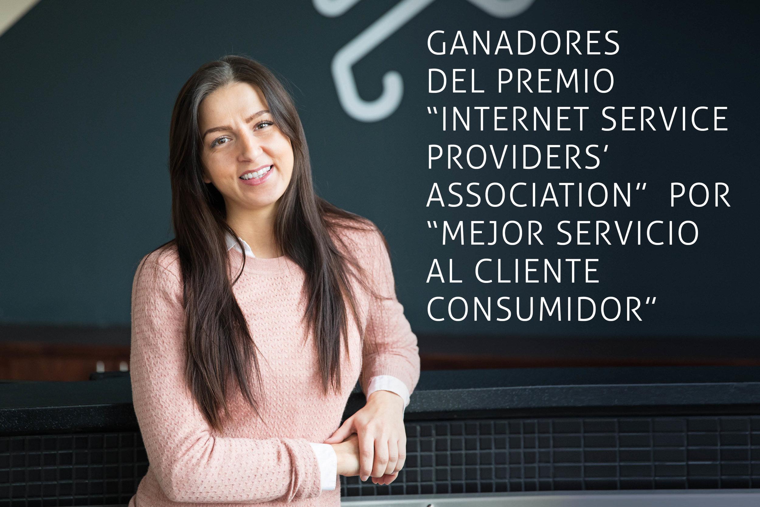 """Ganadores del premio """"Internet Service Providers' Association"""" por """"Mejor Servicio al Cliente Consumidor"""""""