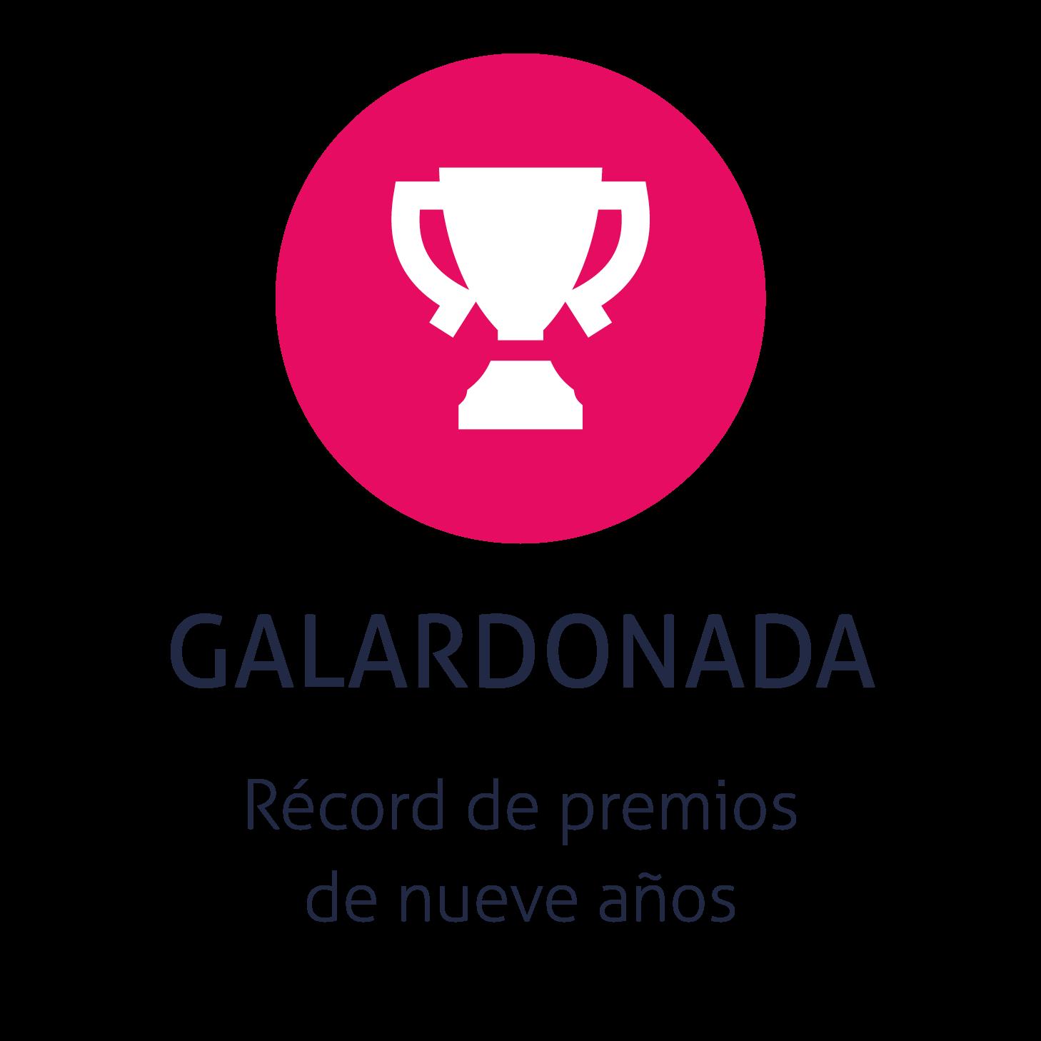 Record de premios de nueve años.