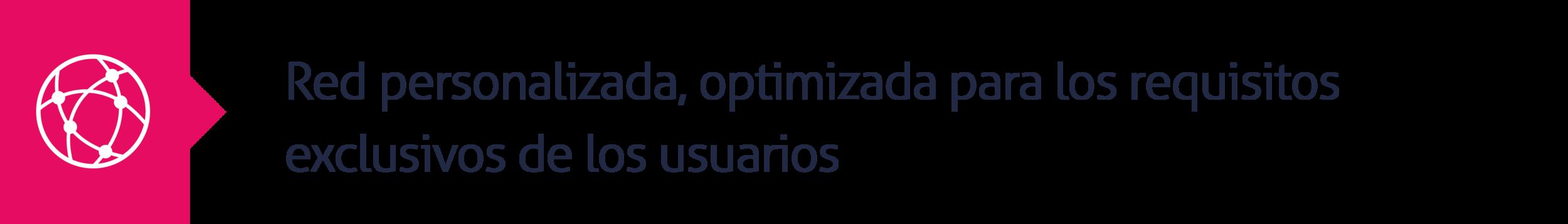 12.Red personalizada, optimizada para los requisitos exclusivos de los usuarios