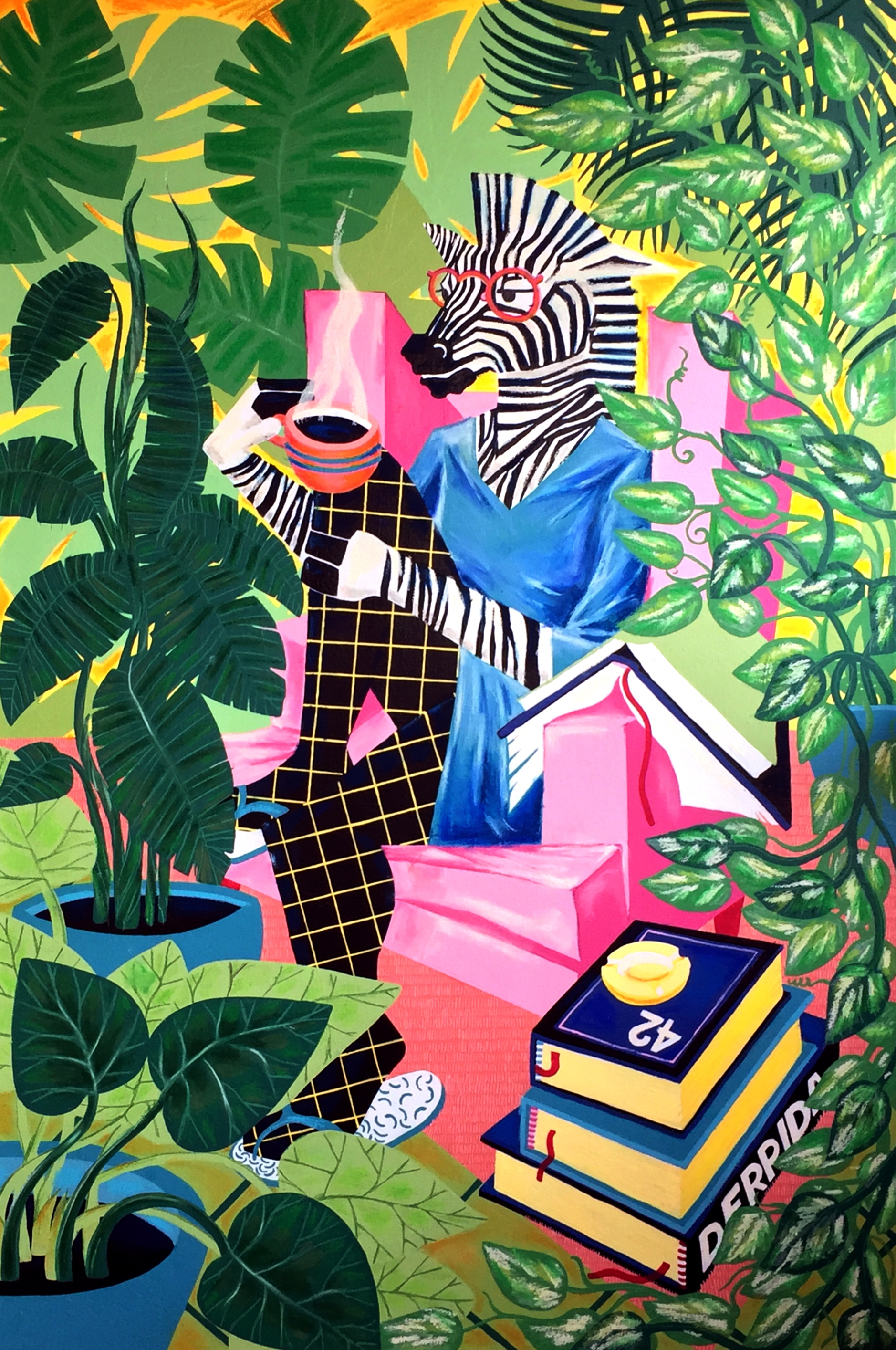 """Zebra Lady - """"Zebra Lady""""was selected for #ArtElevated, the first street exhibition organized by Orangenius and the The Garment District, on display on 38th Street in Manhattan."""