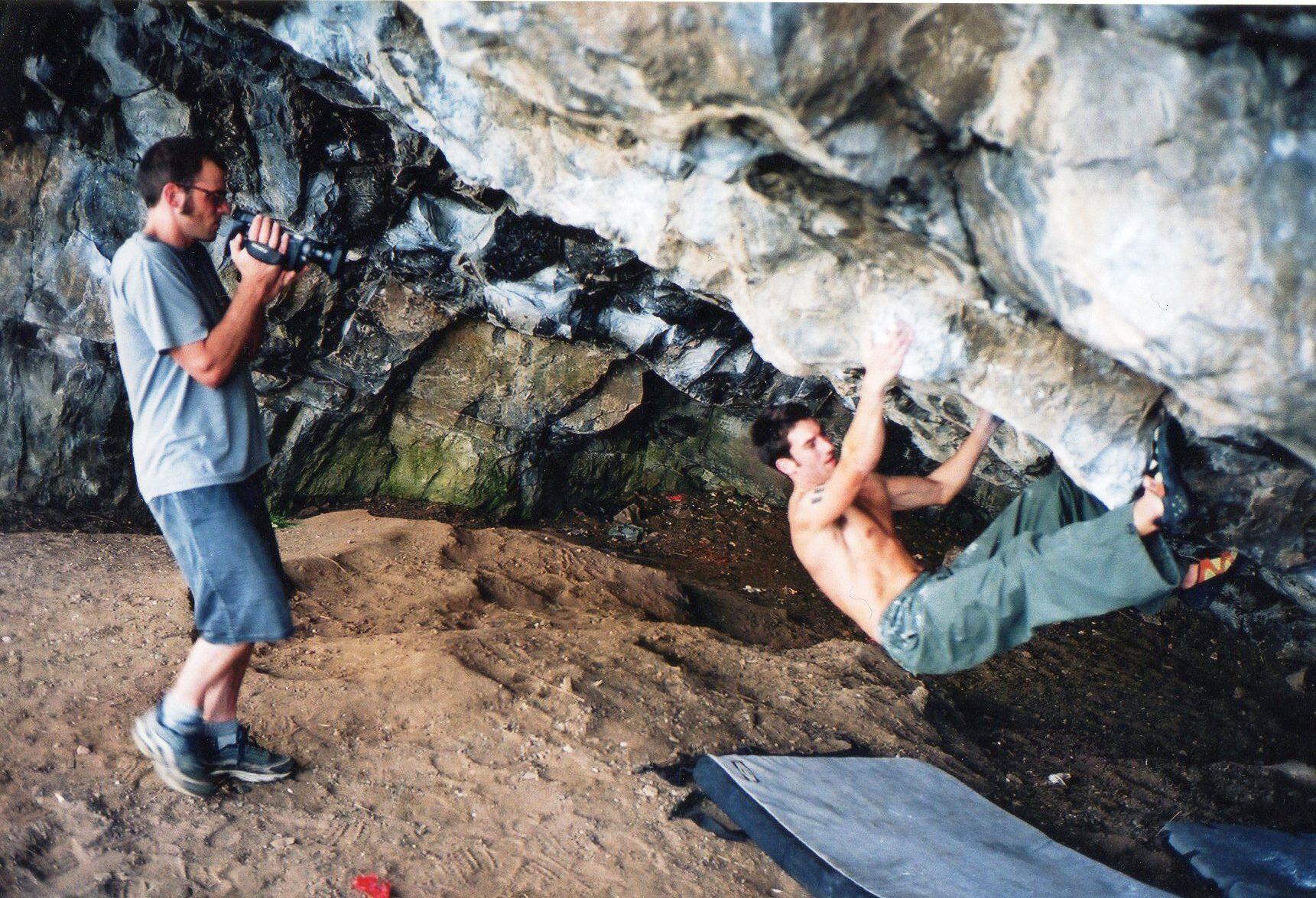 Ben Pritchard filming 'Stick It' 2001 Photo Rich Heap