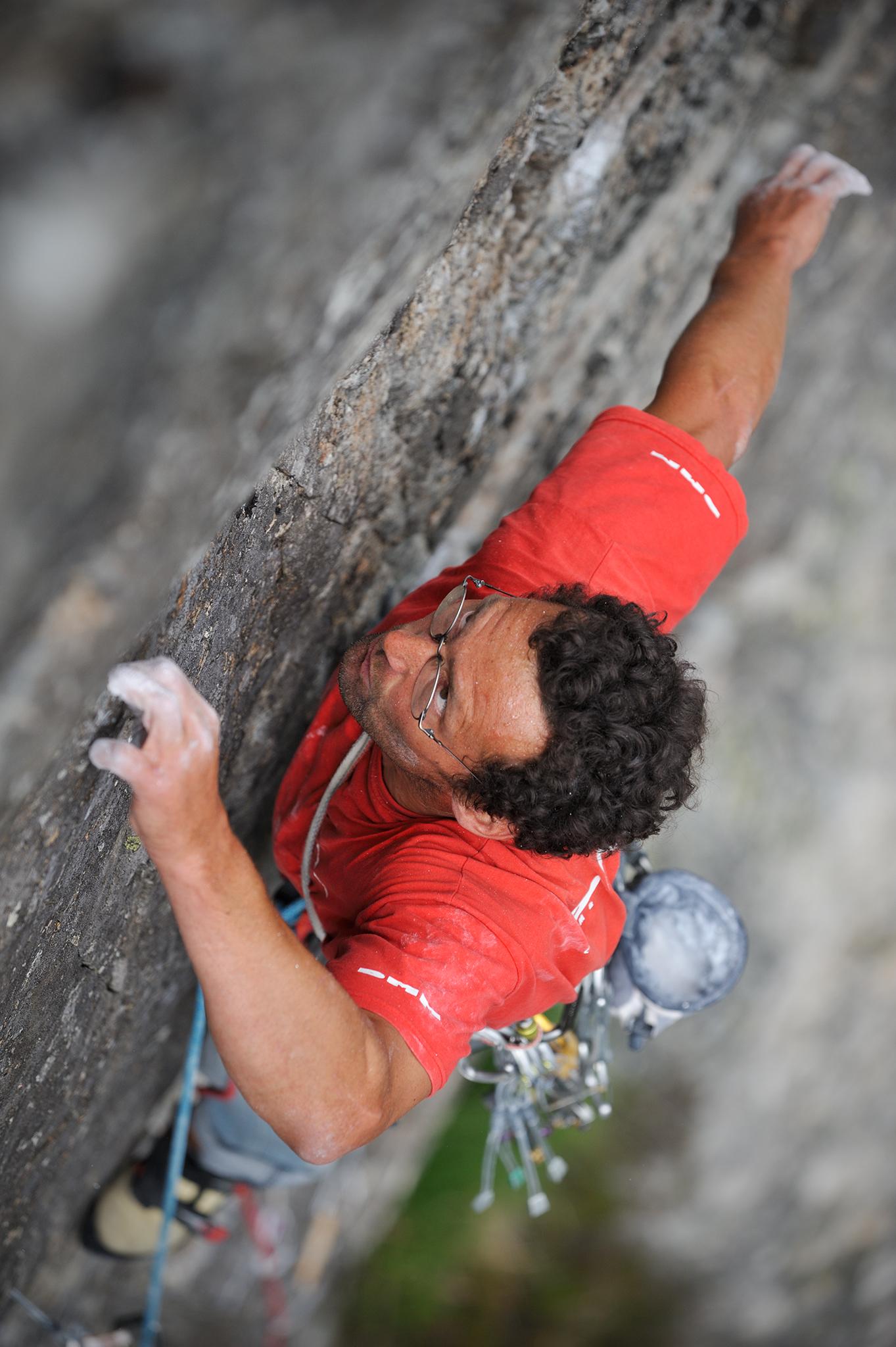 Nick Bullock on first ascent of Shockwave E6 6a, Gallt yr Ogof, Ogwen