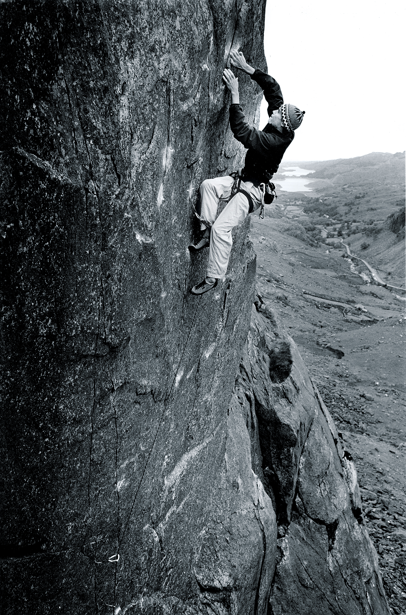 Leo Houlding on the first ascent of  Trauma  E8 7a, Dinas Mot, Llanberis Pass, North Wales
