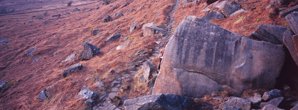 Maddy Cope at Stanage, UK