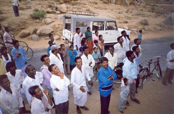 Reactions to 'climbing' in Hampi, circa 2000-01