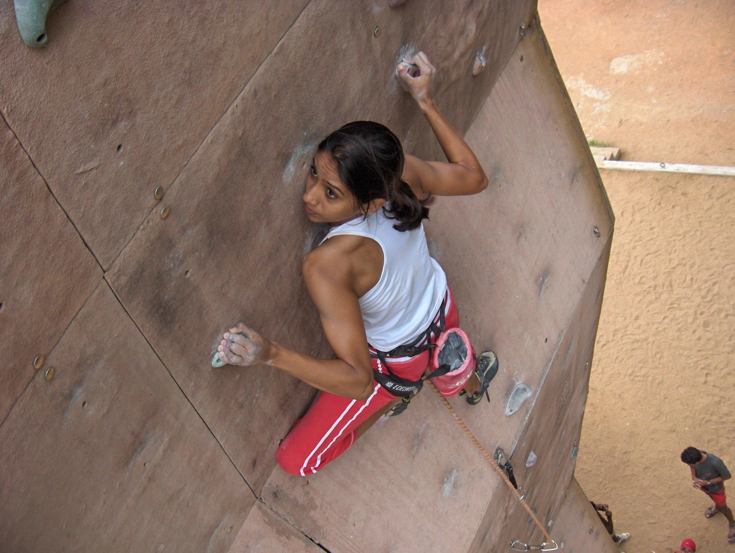 Archana Jadav training, circa 2005, for World Championships 2.jpg