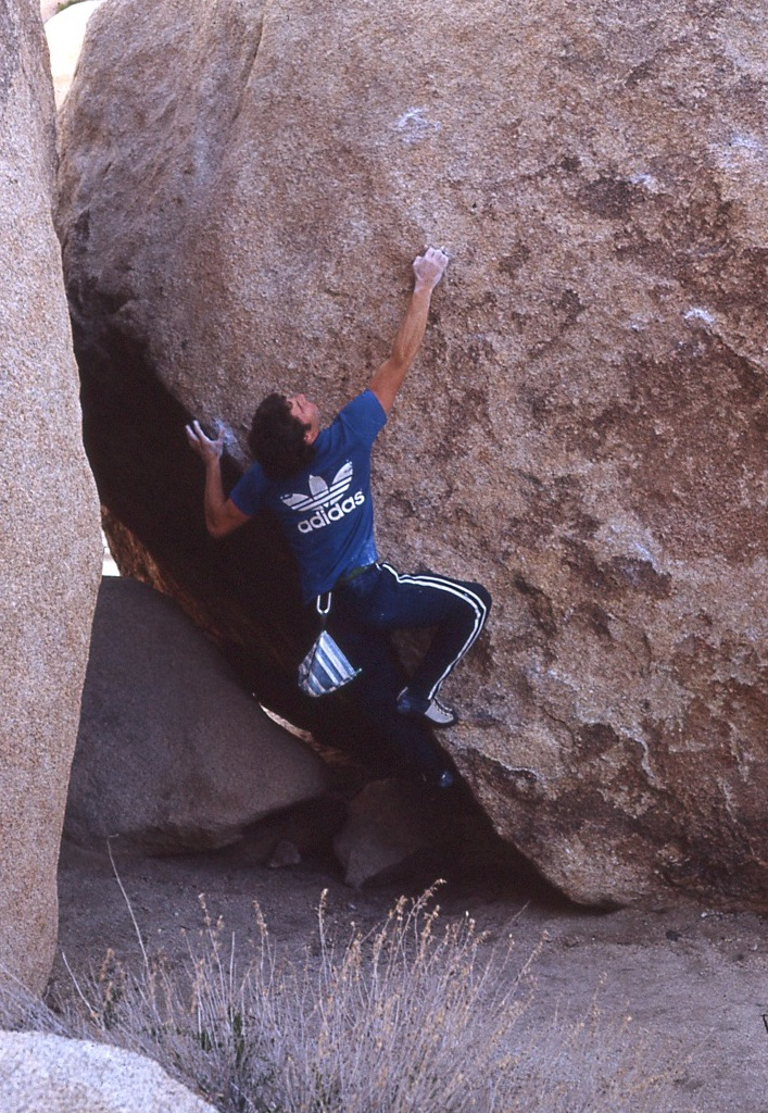 Dick Cilley bouldering