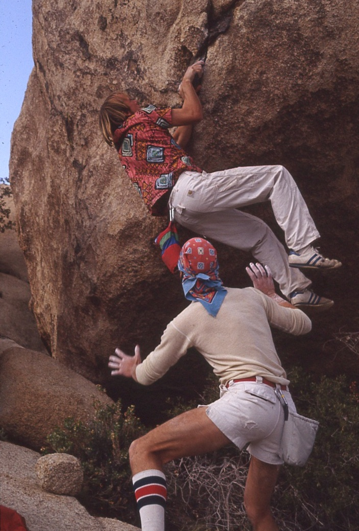 Todd Skinner and Kerwin Klein bouldering