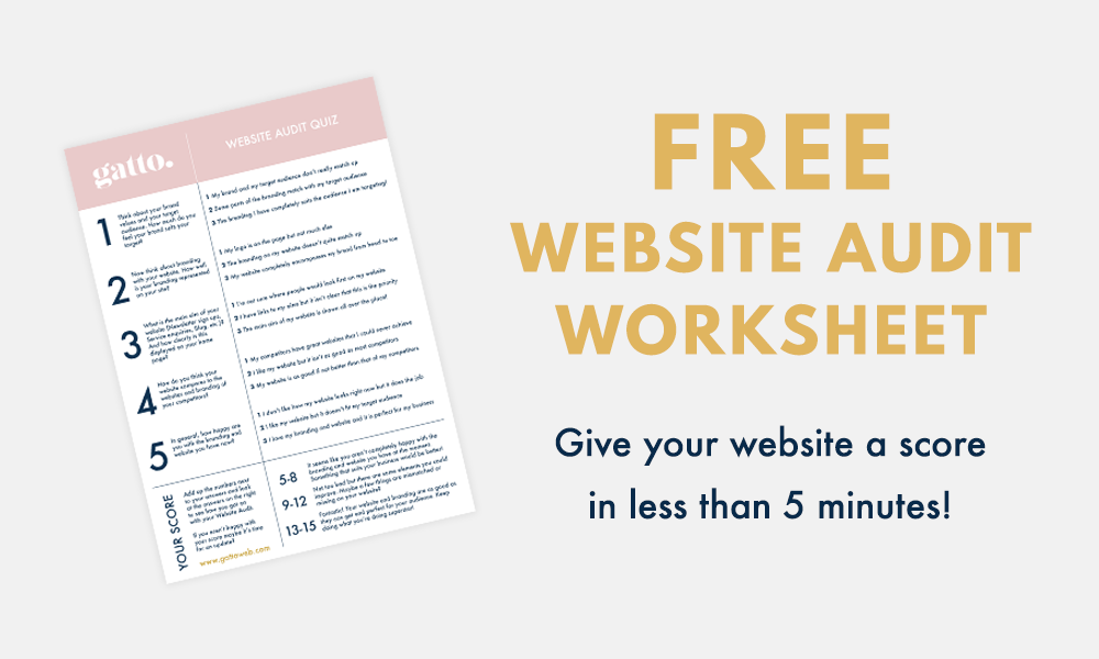 Free Website Audit Worksheet | Branding | Small Biz | Creative Business | Scorecard