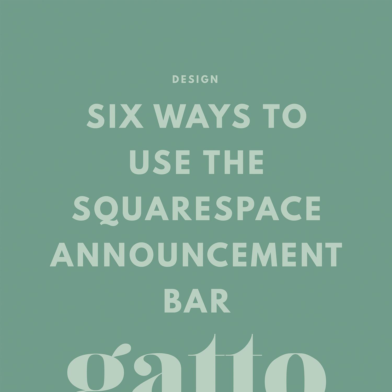 Squarespace   Announcement Bar   Website Design   Creative Business   Small Bix
