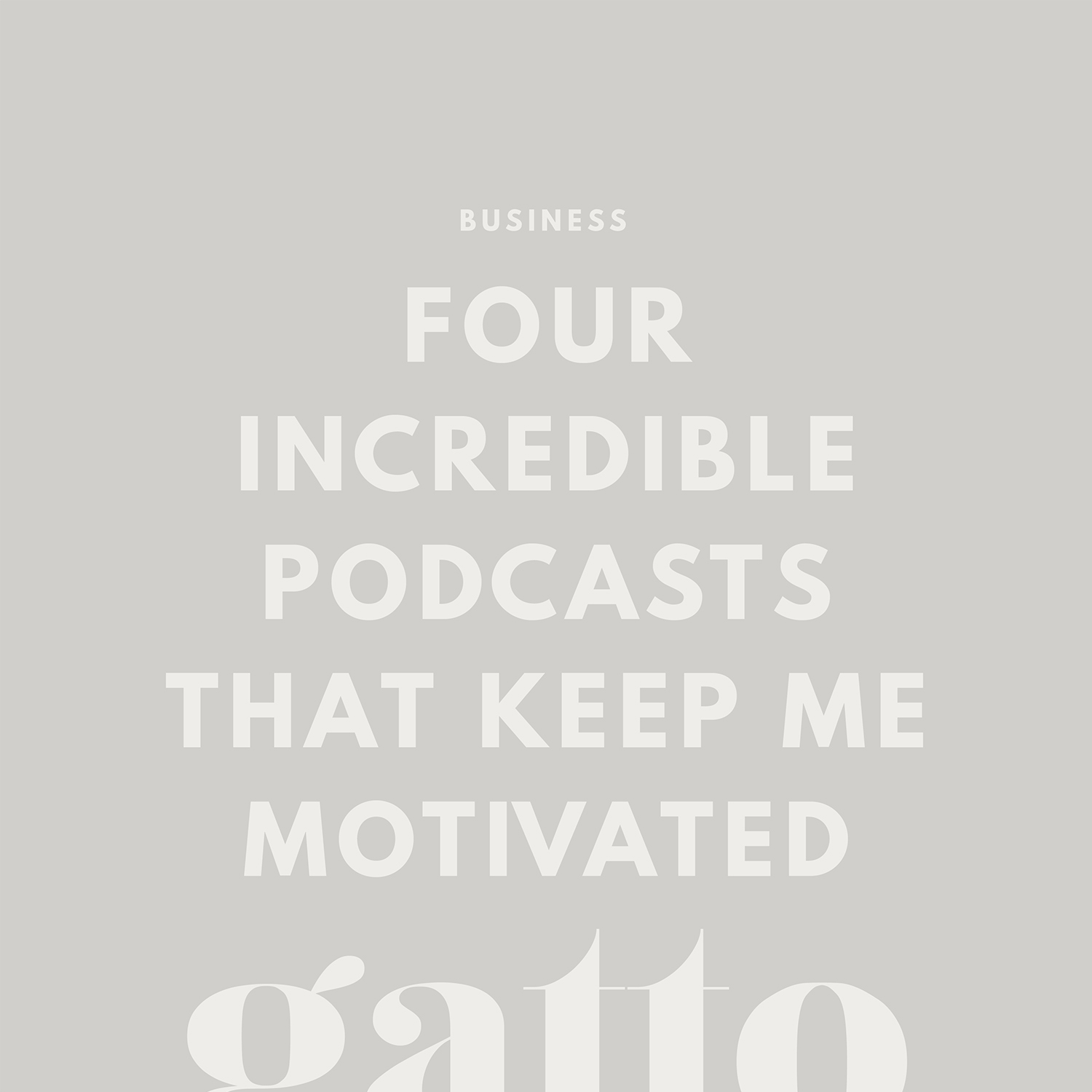 Inspirational Podcasts | Business Advice | Creative Biz | Girl Boss Podcast