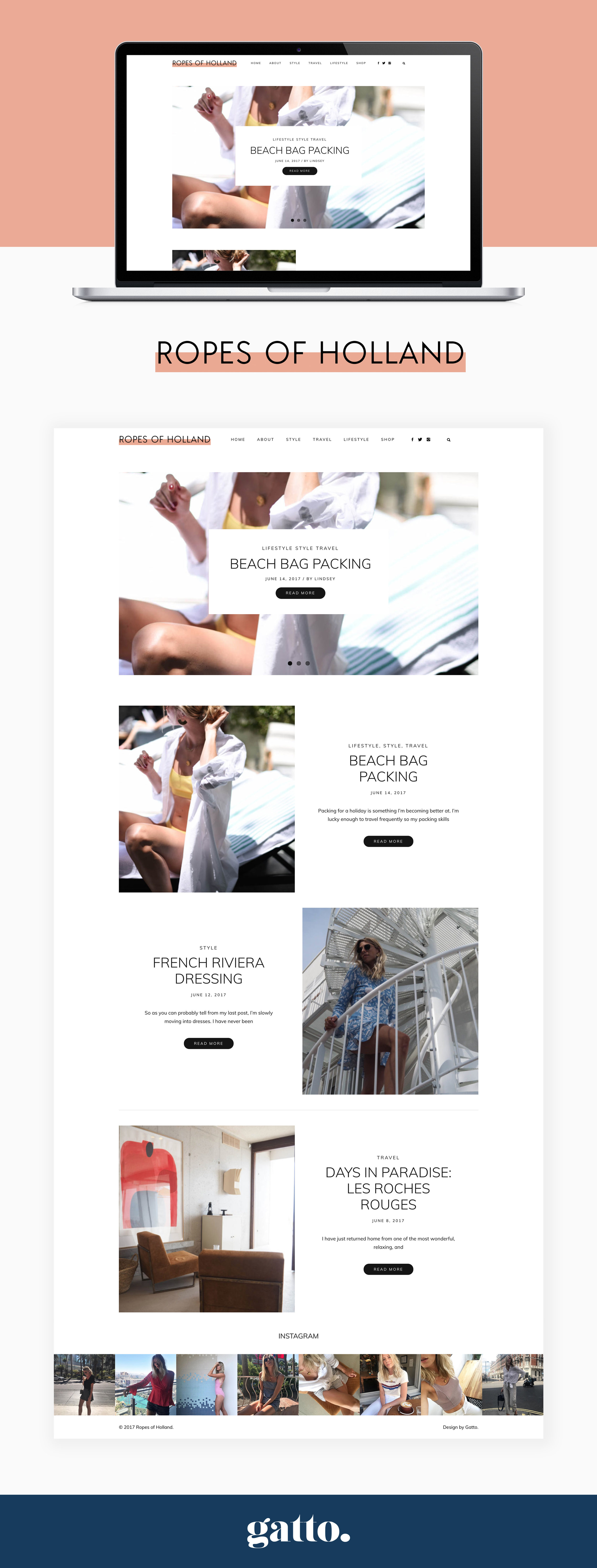 Ropes of Holland Website Design | Gatto Branding & Web Design | Creative Business | Design Studio