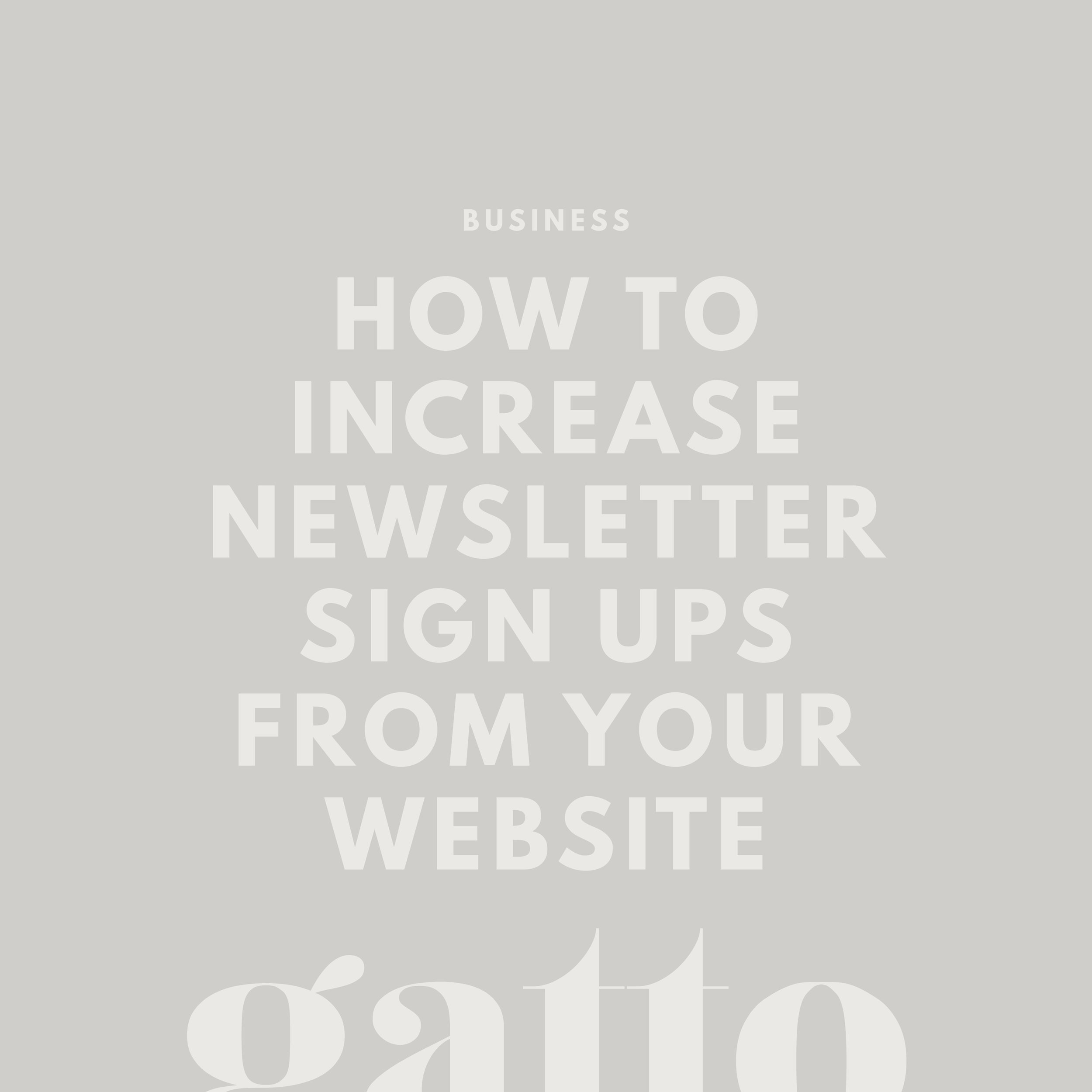 Increase Newsletter Sign Ups Squarespace | Opt In | Mailing List Subscribers on Website