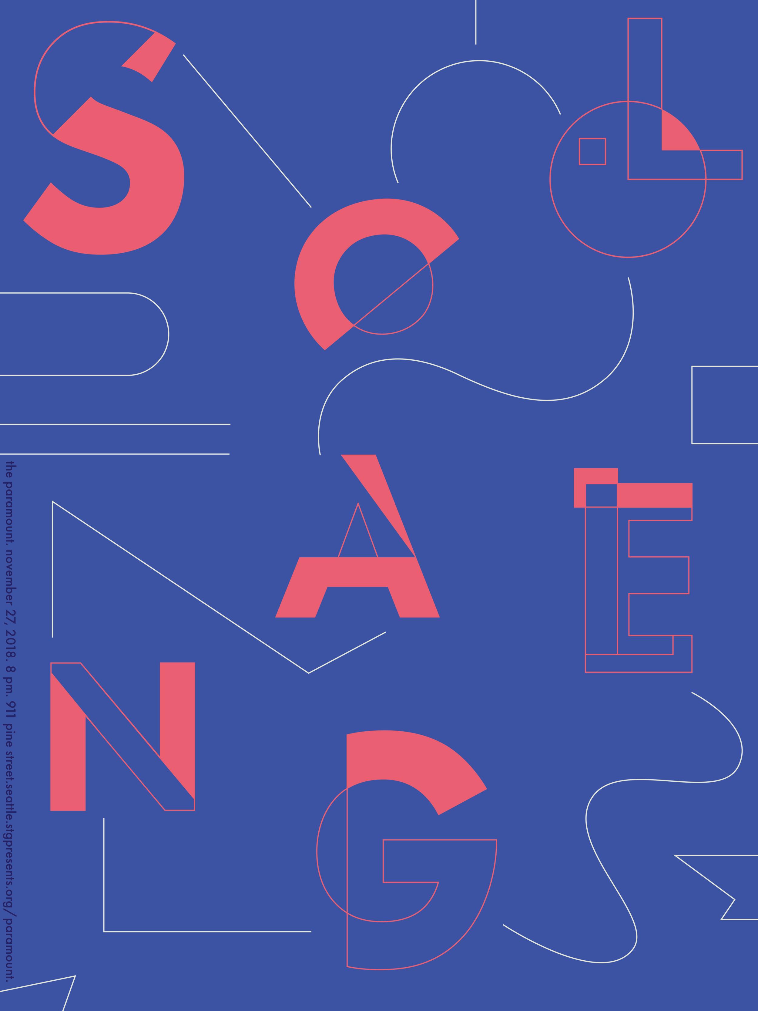 Design for Solange gig poster.
