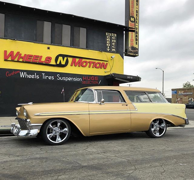Killer 56 Nomad done by @wheelsnmotiononline #ridlerwheels #classiccars #chevynomad