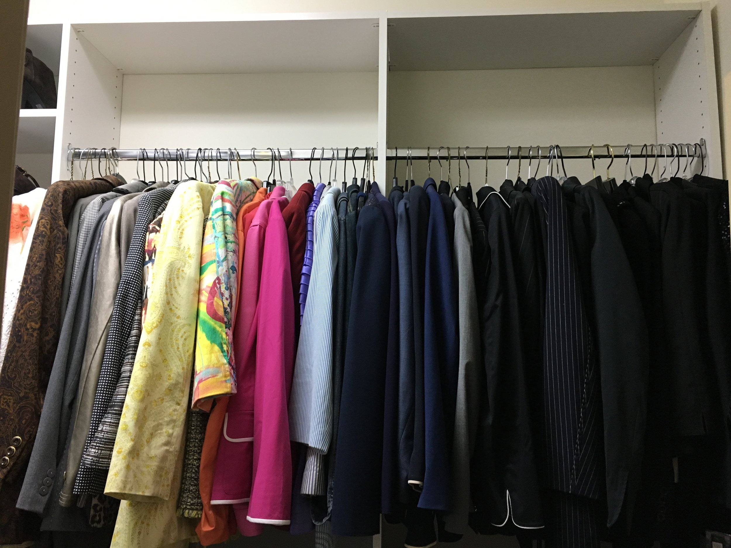 closet organization by color