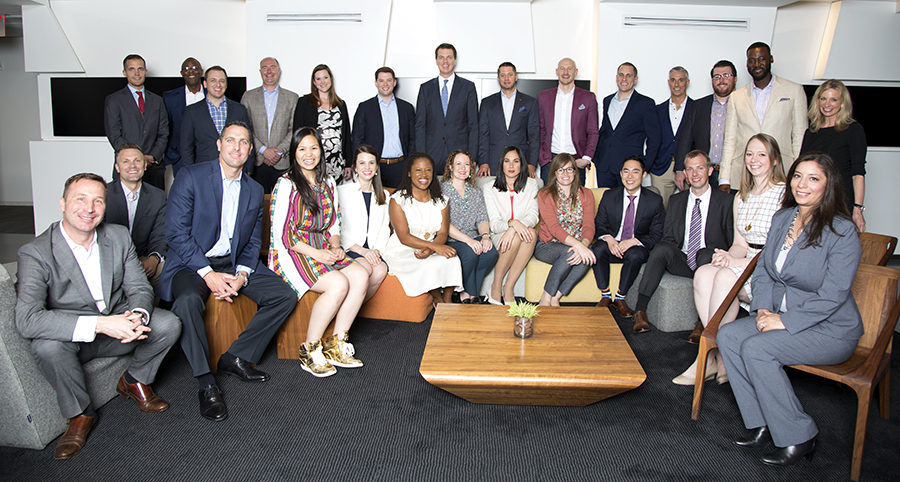 The 40 Under 40 class of 2017, after attending the annual InvestmentNews luncheon and video shoot in New York on May 22. Photo credit: Erin Patrice O'Brien