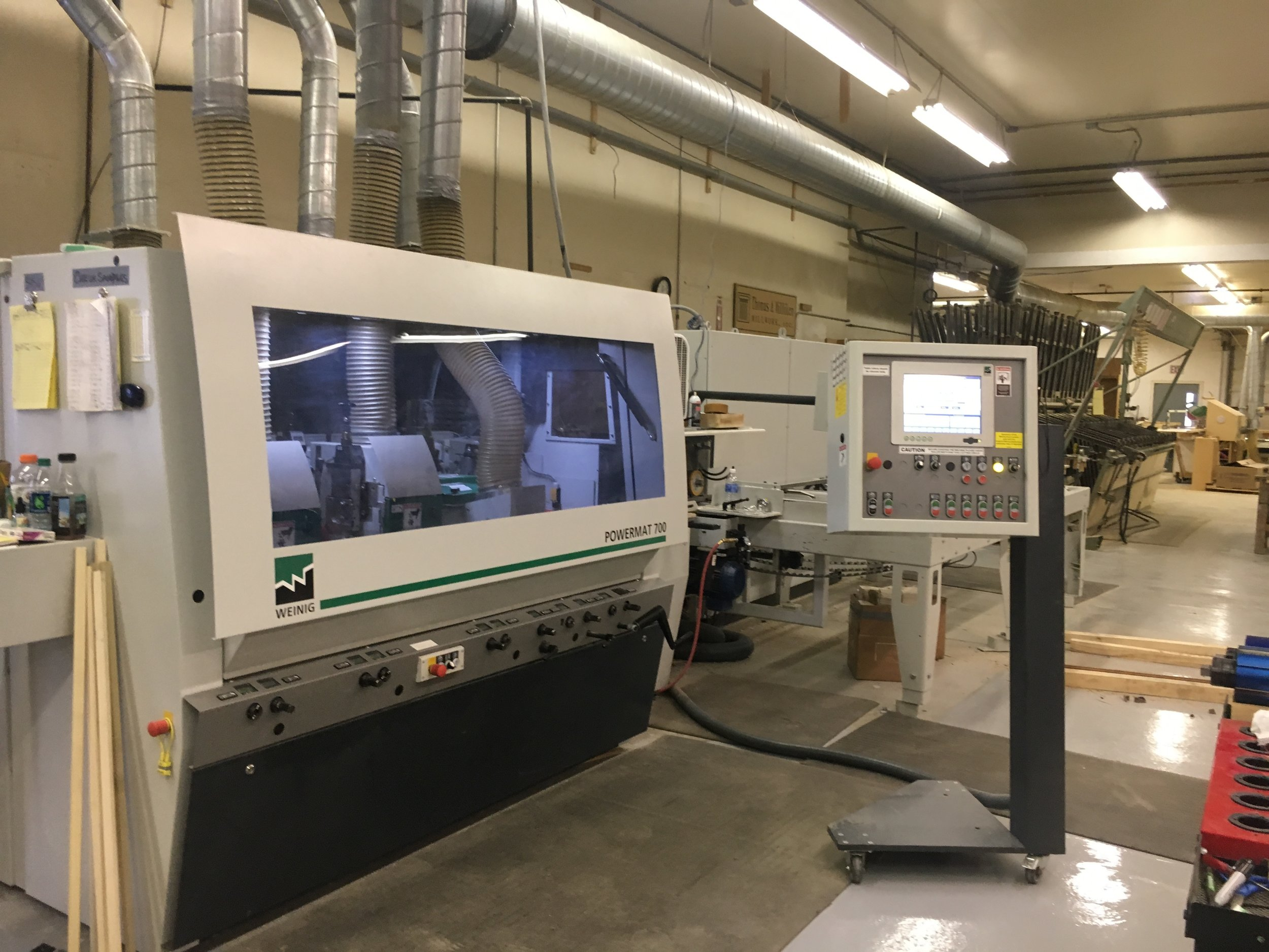 POWERMAT MOLDER  The moulder is the centerpiece of any production facility. This is where the most value is added when creating a profiled moulding from square timber.