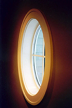 Oval window painted trim