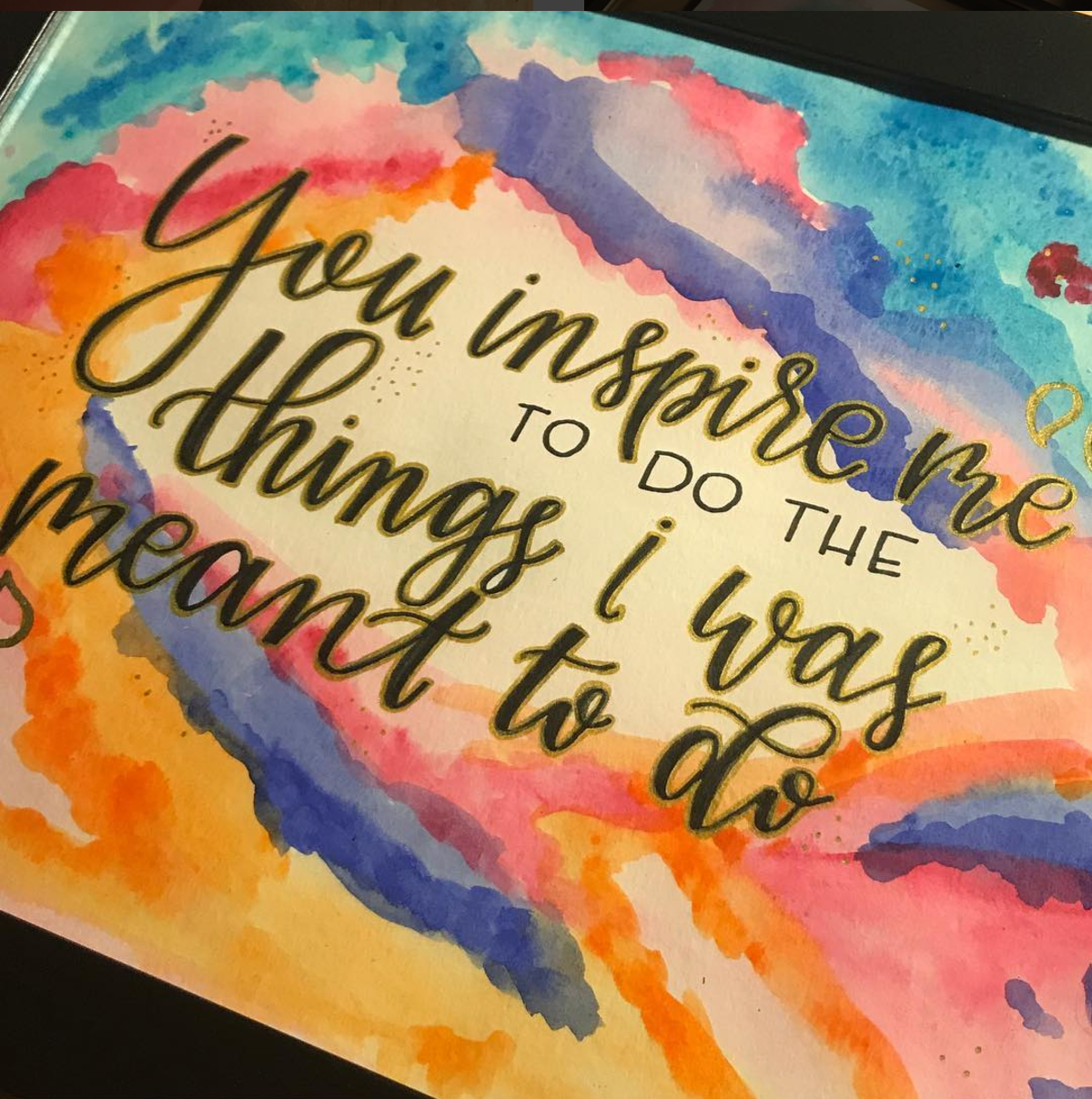 Watercolors & Quotes