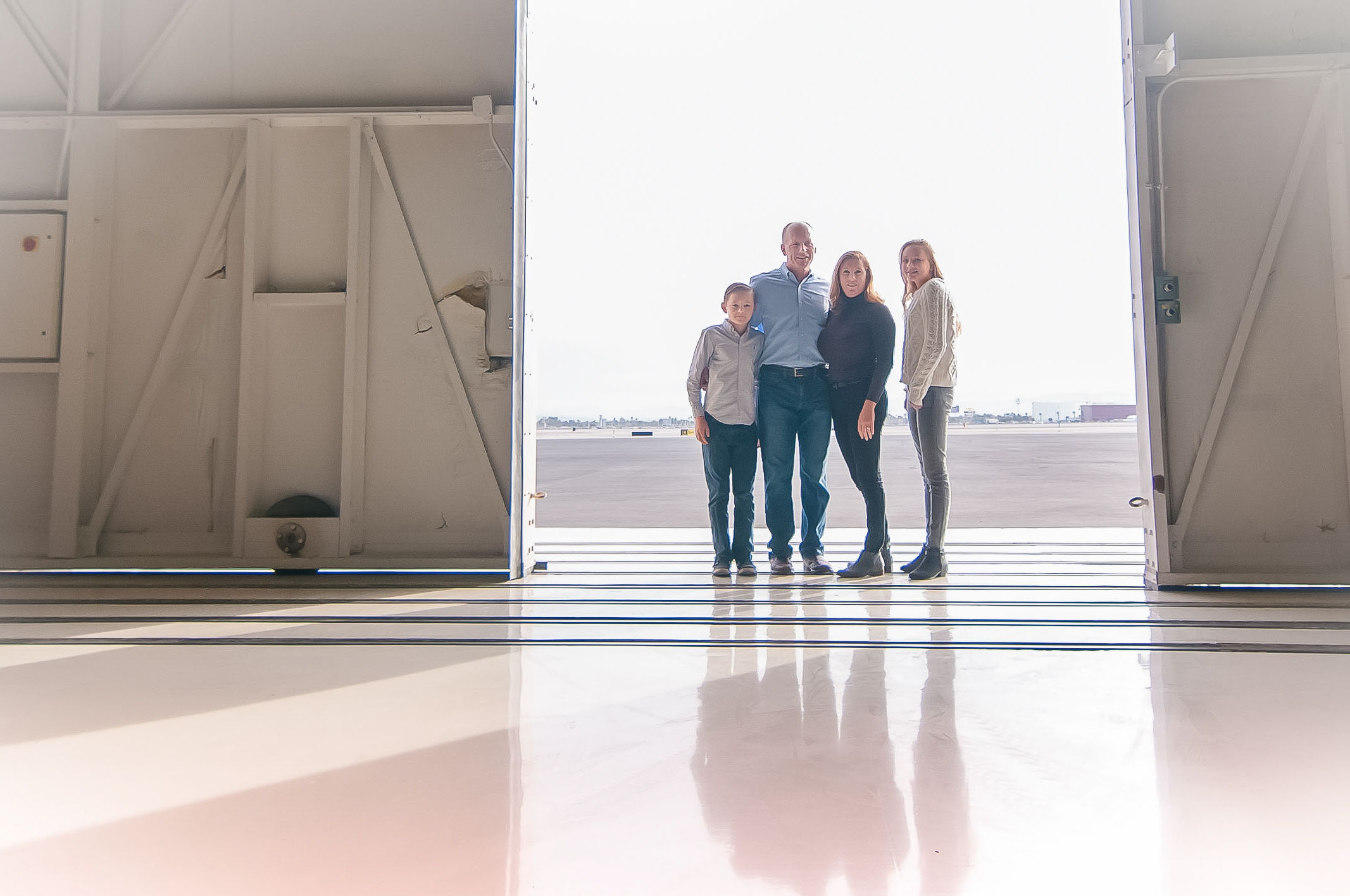 Airport Hangar Family Photography Session