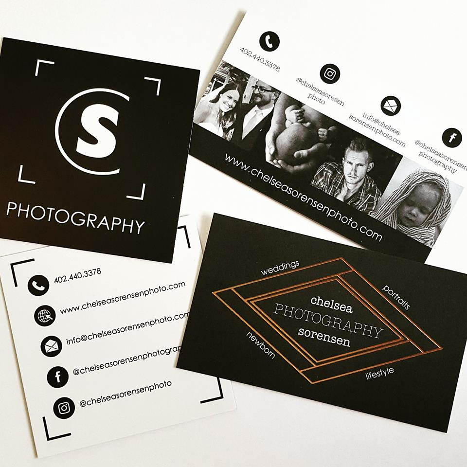 Chelsea Sorensen Photography business cards