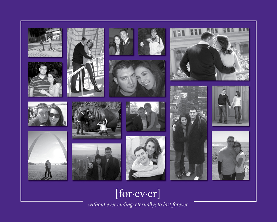 photo collage bridal shower wedding gift