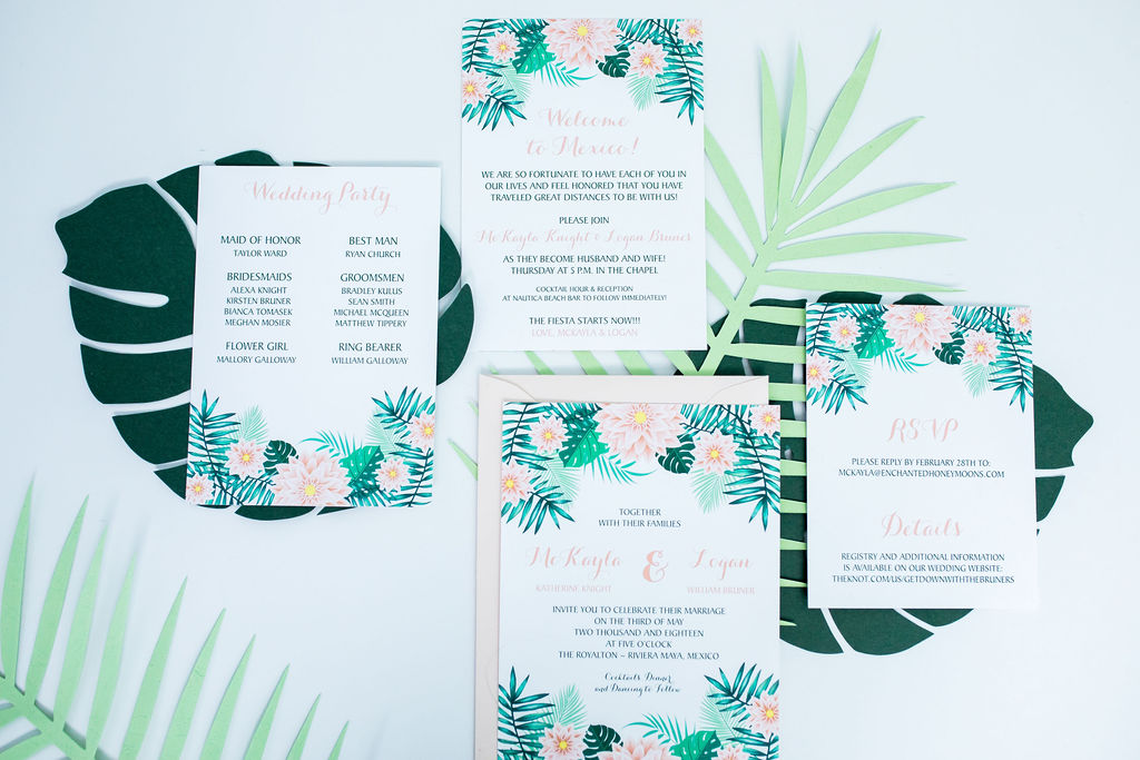 destination mexico wedding invitation