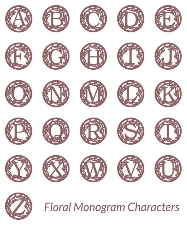 FLORAL MONOGRAM CHARACTERS