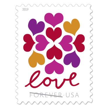 1 oz. Forever Stamp - Hearts Blossom - $0.55